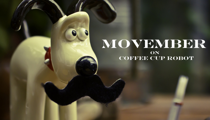 Movember day 16 Coffee cup robot