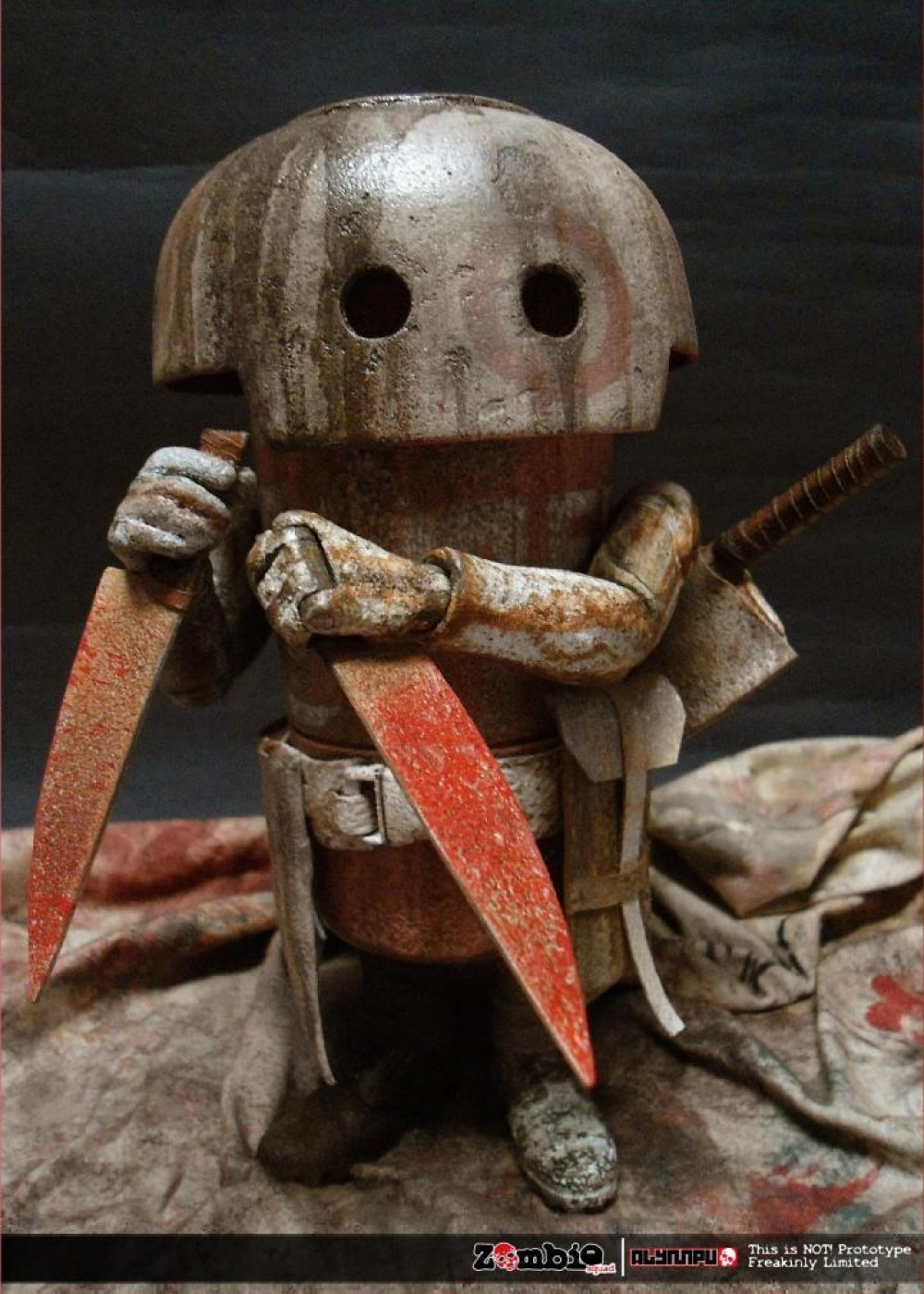 ZOMBIE SQUAD MUSHROOM MEAT ThreeA by ALYMPU knife out