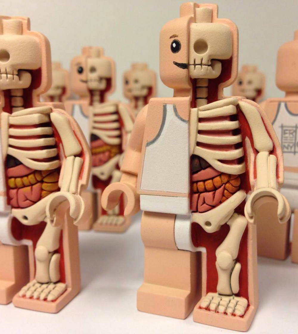 Micro Anatomic Anatomy Mini Fig By Jason Freeny X Mighty Jaxx The