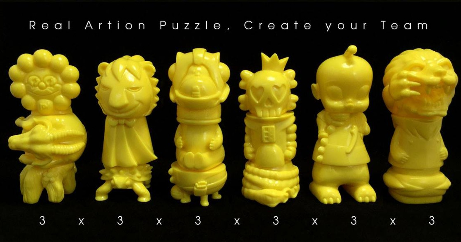 Artion Association Real Artion Puzzle clear ryan lee william tsang eric so kenny wong ben lam Unbox industries  rumbbell yellow