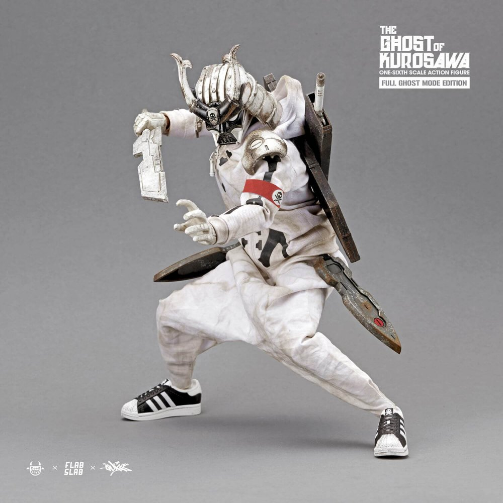 The Ghost of Kurosawa onesix Scale Action Figure Quiccs x FLABSLAB x Devil Toys full Full GHOST MODE EDITION