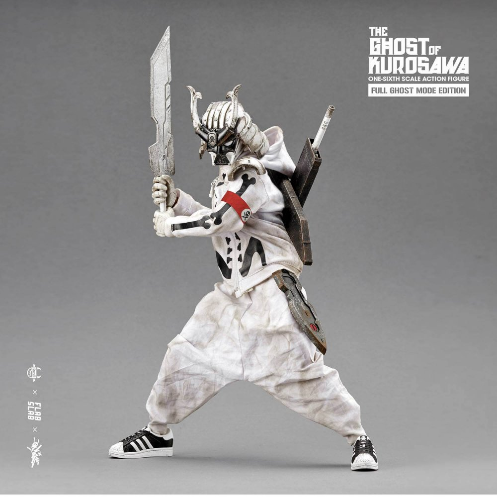 The Ghost of Kurosawa onesix Scale Action Figure Quiccs x FLABSLAB x Devil Toys full WHITE 2