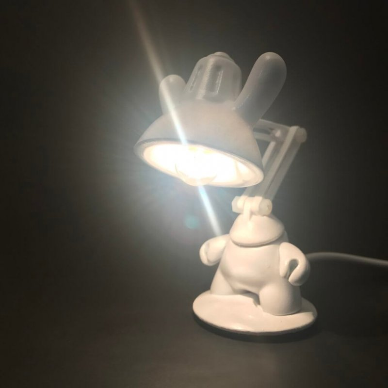 JL2 Dunny Lamp By Made By Forbes white 3 inch