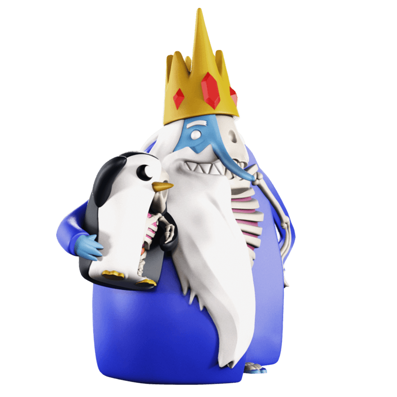 ADVENTURE TIME XXRAY PLUS ICE KING & GUNTER