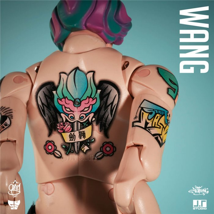 WANG single version foo dog by JT STUDIO no clothing back