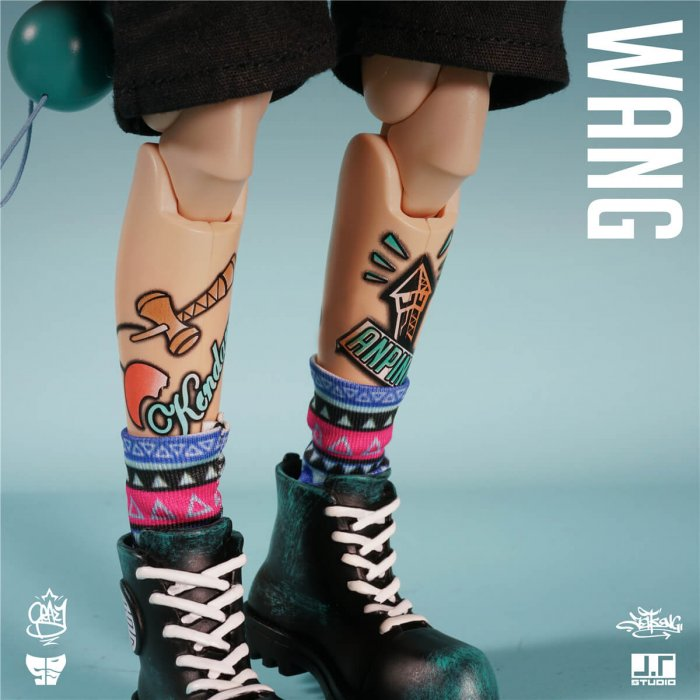 WANG single version foo dog by JT STUDIO no clothing legs