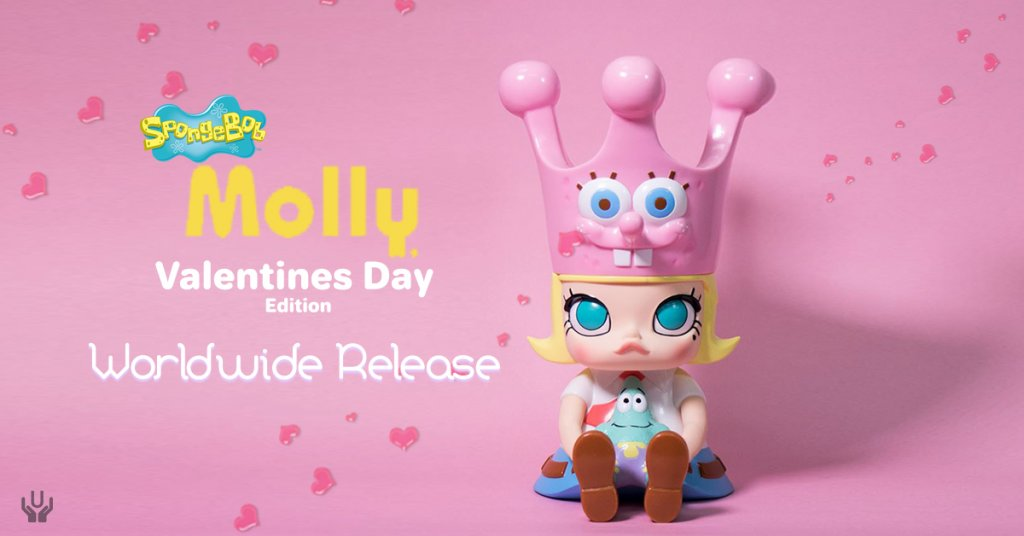 MOLLY X SPONGEBOB Valentine Special Edition By Kenny Wong X Unbox  Industries Worldwide Release | The Toy Chronicle