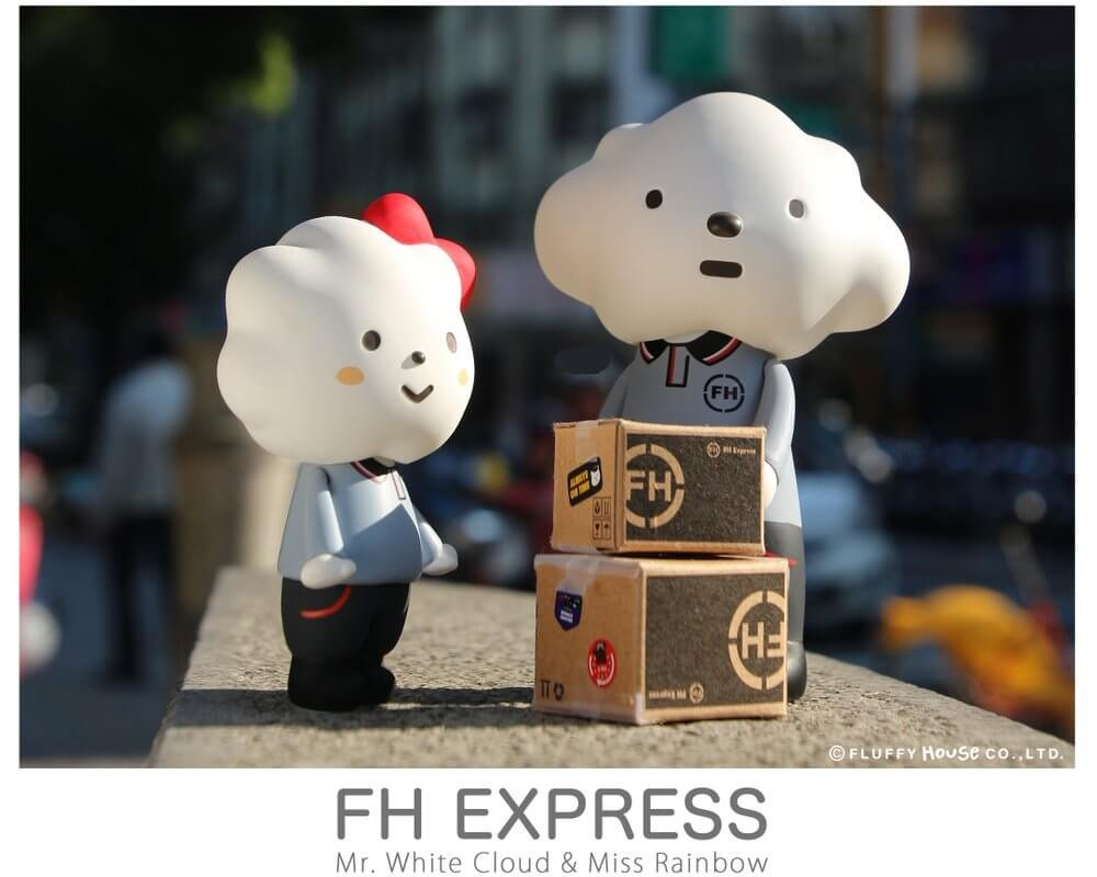 Mr White Cloud x Miss Rainbow FH Express Edition By Fluffy House