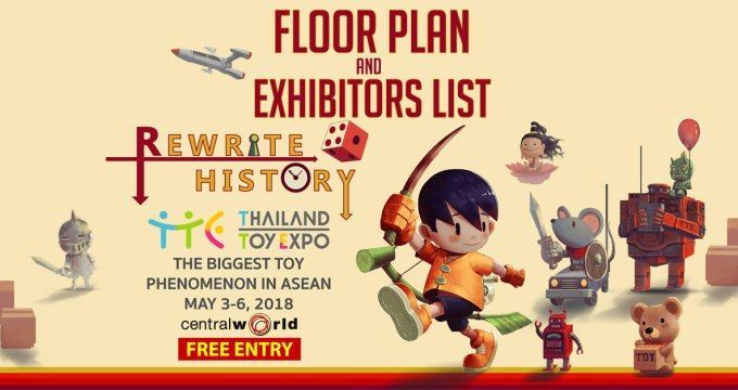 Thailand Toy Expo 2018 Floor Plan and Exhibitors List